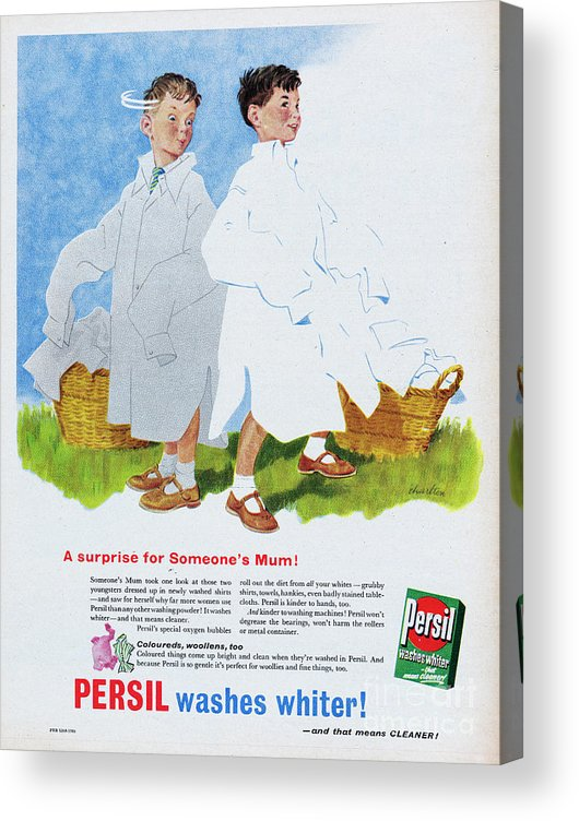 Powder Laundry Detergent Acrylic Print featuring the photograph Persil Washes Whiter by Picture Post
