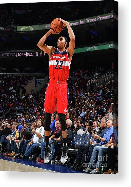 Nba Pro Basketball Acrylic Print featuring the photograph Philadelphia 76ers V Washington Wizards by Jesse D. Garrabrant