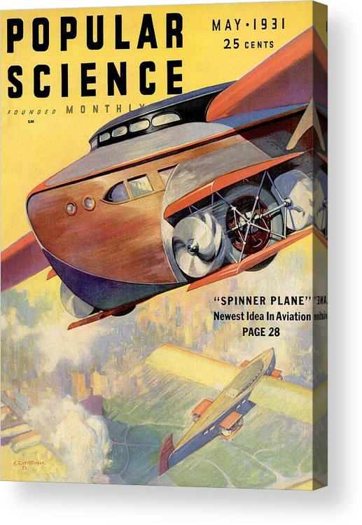 Magazine Cover Acrylic Print featuring the photograph Popular Science Magazine Covers by Popular Science