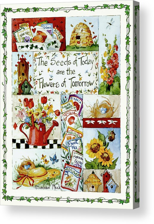Flowers Of Tomorrow Acrylic Print featuring the painting 3442 Flowers Of Tomorrow by Barbara Mock