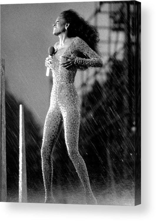 Singer Acrylic Print featuring the photograph A Torrential Downpour, With Winds by New York Daily News Archive