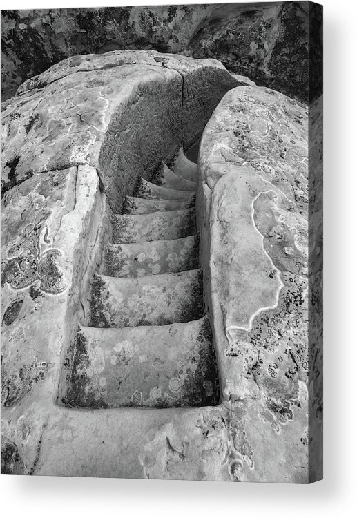 Stone Acrylic Print featuring the photograph Ancient Stairs in El Morro by Candy Brenton