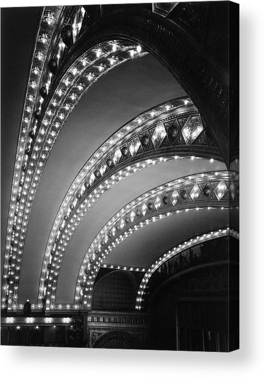 Ceiling Acrylic Print featuring the photograph Auditorium Theater In Chicago by Chicago History Museum