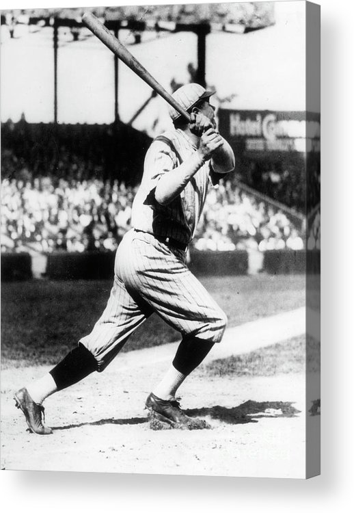 American League Baseball Acrylic Print featuring the photograph Babe Ruth 1921 by Transcendental Graphics