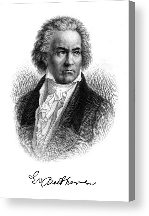 Beethoven Acrylic Print featuring the painting Beethoven by Copperplate