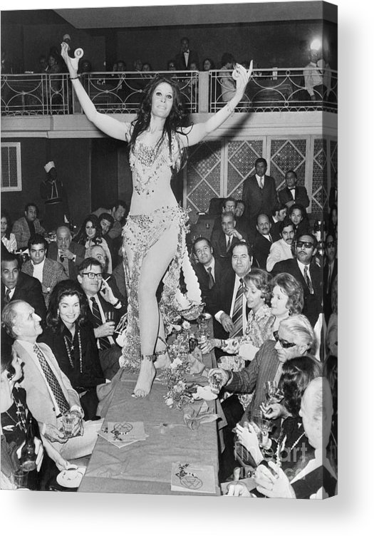 People Acrylic Print featuring the photograph Belly Dancer At Cairo Party by Bettmann