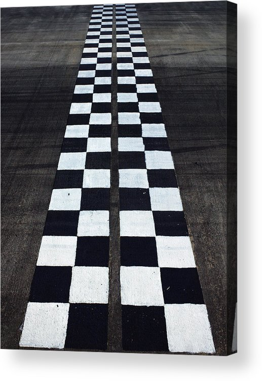 Finish Line Acrylic Print featuring the photograph Black And White Finish Line by Win-initiative/neleman