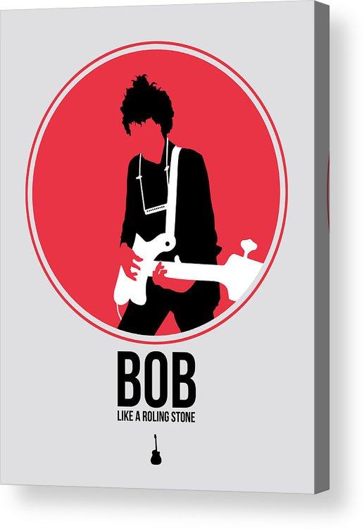 Bob Dylan Acrylic Print featuring the digital art Bob Dylan by Naxart Studio