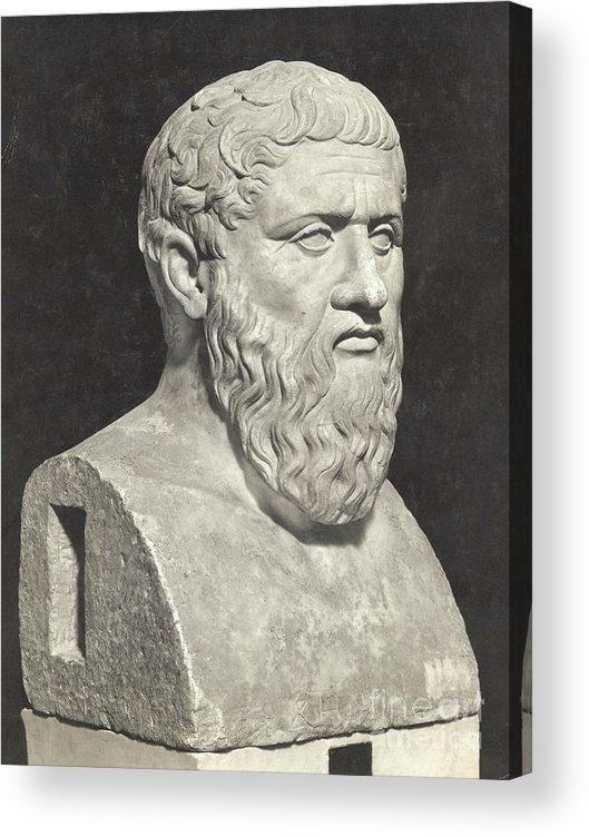Art Acrylic Print featuring the photograph Bust Of Grecian Philosopher Plato by Bettmann