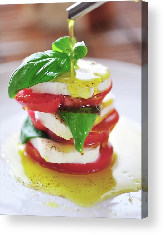 Caprese Salad Acrylic Print featuring the photograph Caprese by Tanya f