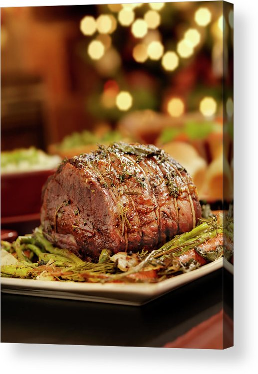 Roast Dinner Acrylic Print featuring the photograph Christmas Roast Beef Dinner by Lauripatterson