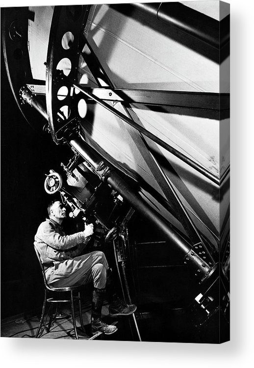 Edwin Powell Hubble Acrylic Print featuring the photograph Edwin Powell Hubble by Margaret Bourke-white
