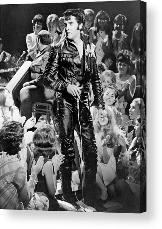 Music Acrylic Print featuring the photograph Elvis Presley 68 Comeback Special by Michael Ochs Archives