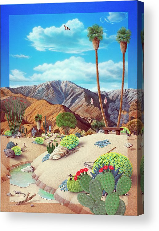 Desert Acrylic Print featuring the painting Enchanted Desert by Snake Jagger