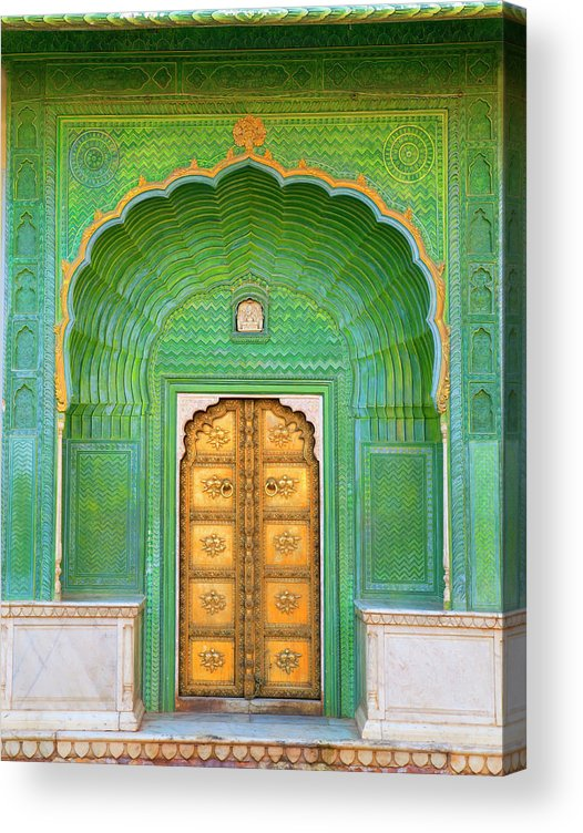 Tranquility Acrylic Print featuring the photograph Entrance To Palace by Grant Faint