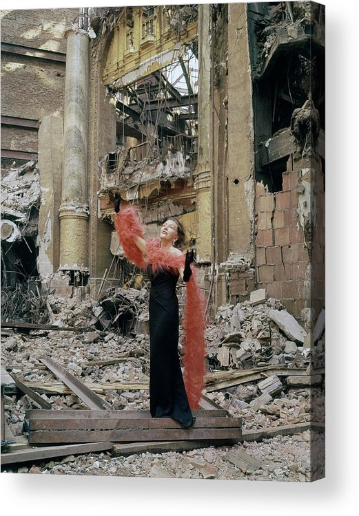 Timeincown Acrylic Print featuring the photograph Gloria Swansonjean Louis Misc by Eliot Elisofon