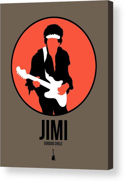 Jimi Hendrix Acrylic Print featuring the digital art Jimi Hendrix by Naxart Studio