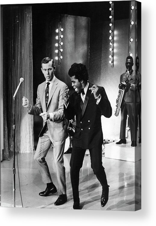 Singer Acrylic Print featuring the photograph Johnny Carsonjames Brown by Arthur Schatz