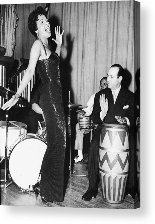 Singer Acrylic Print featuring the photograph Lena Horne Sings by Hulton Archive