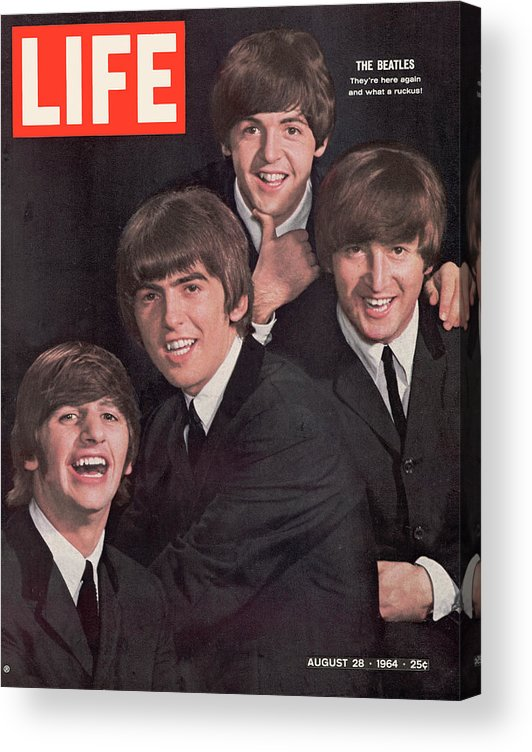 Magazine Cover Acrylic Print featuring the photograph Life Magazine Cover August 28, 1964 by John Dominis