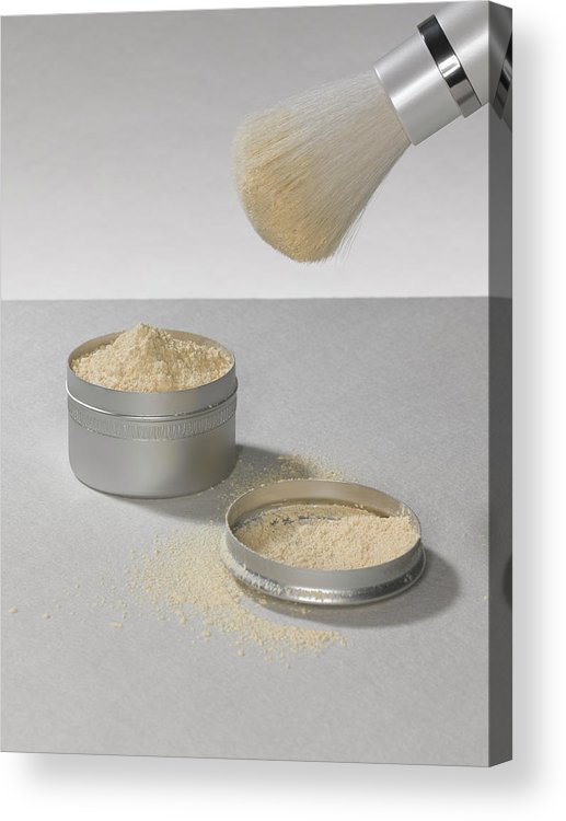 Heap Acrylic Print featuring the photograph Make Up Powder by Adrian Burke