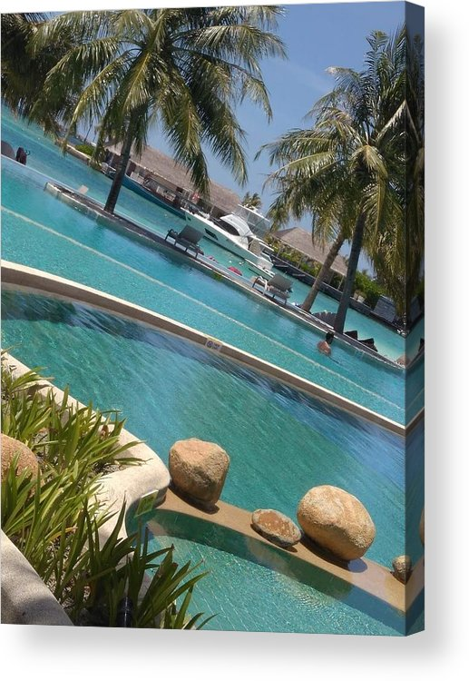 Water Acrylic Print featuring the photograph Maldivies by Aswini Moraikat Surendran