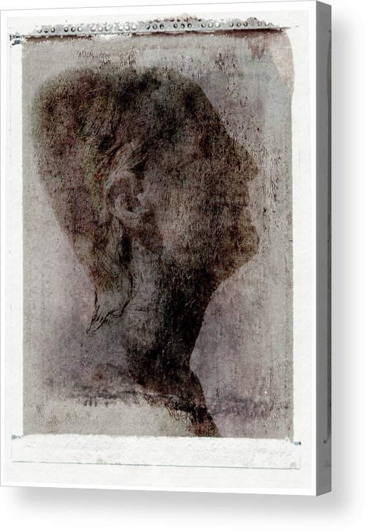 Mature Adult Acrylic Print featuring the photograph Man Looking Up, Side View by Win-initiative