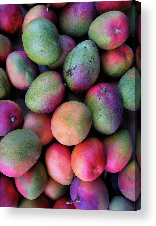 Mango Fruit Acrylic Print featuring the photograph Mango Mania by Digi guru