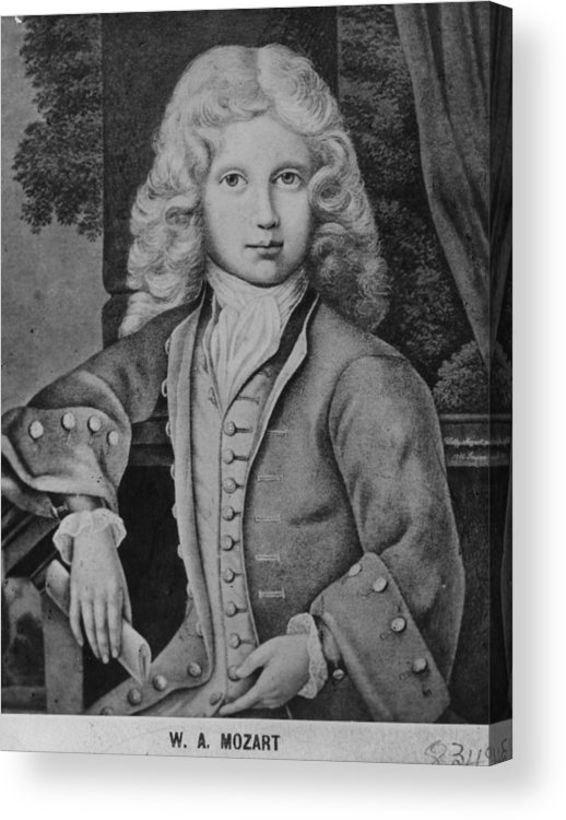 Child Acrylic Print featuring the digital art Mozart As Child by Hulton Archive