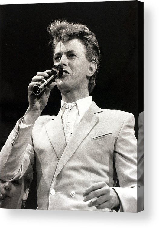 David Bowie Acrylic Print featuring the photograph Music. Wembley Stadium, London by Popperfoto