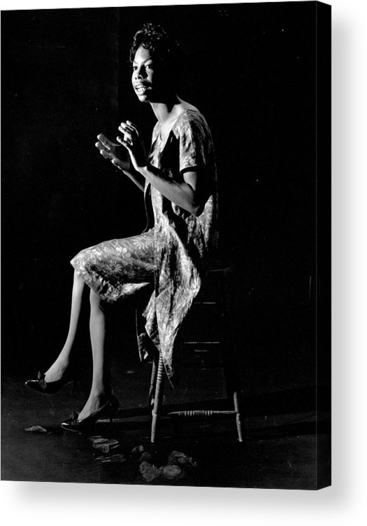 Singer Acrylic Print featuring the photograph Nina Simone by Herb Snitzer