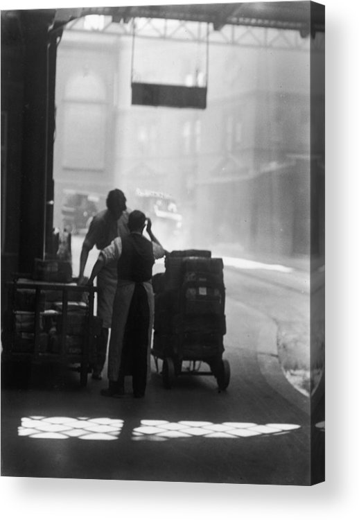 1930-1939 Acrylic Print featuring the photograph Railway Porters by Chaloner Woods