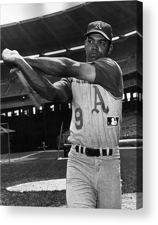 People Acrylic Print featuring the photograph Reggie Jackson by Hulton Archive
