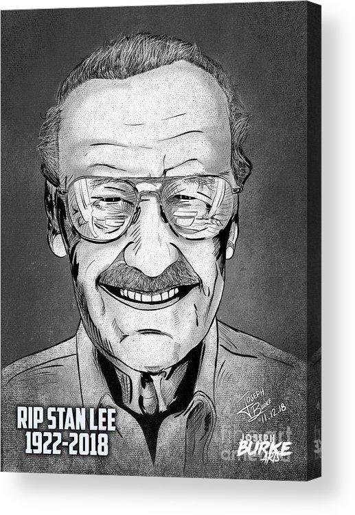 Stan Lee Acrylic Print featuring the digital art Stan Lee by Joseph Burke