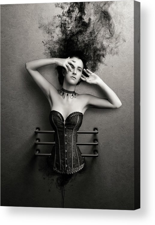 Woman Acrylic Print featuring the photograph Trapped by Johan Swanepoel