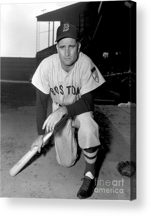 American League Baseball Acrylic Print featuring the photograph Bobby Doerr by Kidwiler Collection