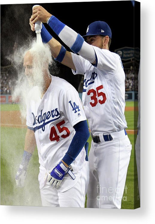 Three Quarter Length Acrylic Print featuring the photograph Cody Bellinger by Harry How