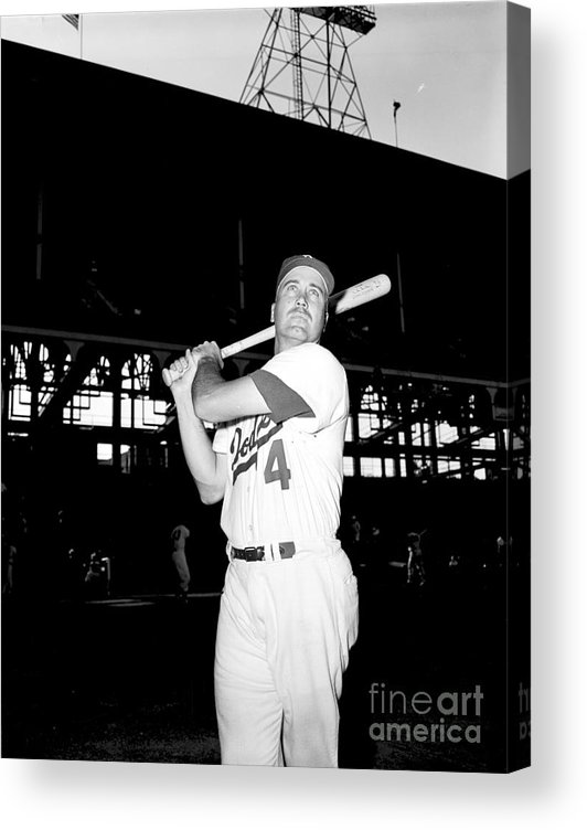 1950-1959 Acrylic Print featuring the photograph Duke Snider by Olen Collection