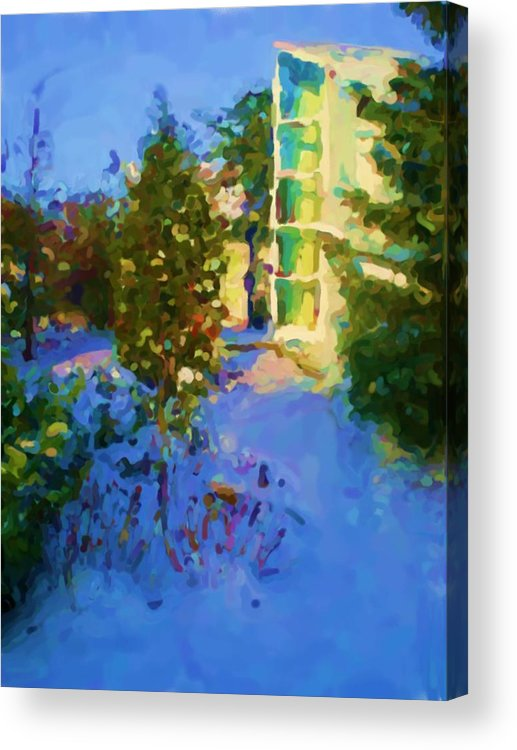 Hedensted Acrylic Print featuring the mixed media Hedensted by Asbjorn Lonvig