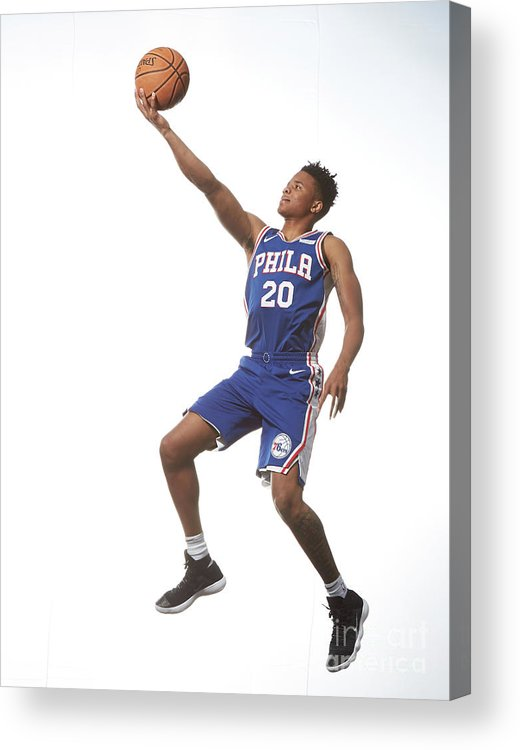 Nba Pro Basketball Acrylic Print featuring the photograph Markelle Fultz by Nathaniel S. Butler