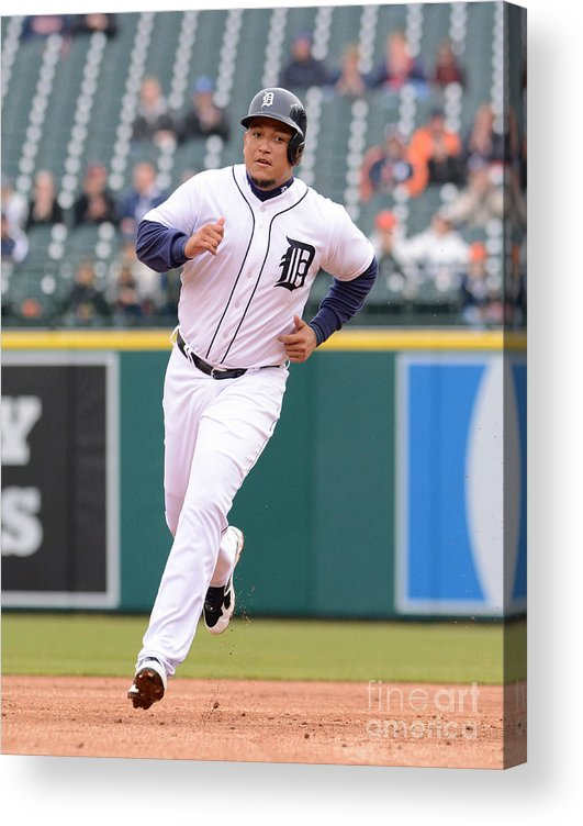 People Acrylic Print featuring the photograph Miguel Cabrera by Mark Cunningham
