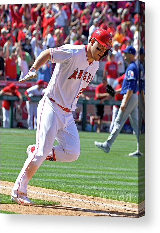 People Acrylic Print featuring the photograph Mike Trout by Jayne Kamin-oncea
