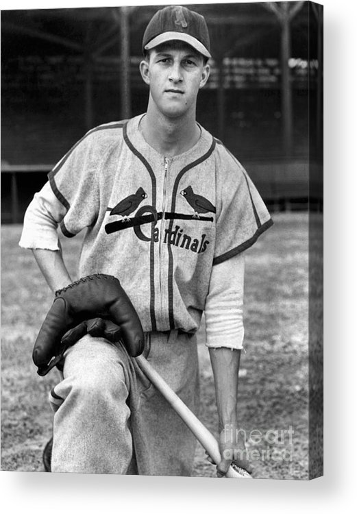 St. Louis Cardinals Acrylic Print featuring the photograph Stan Musial by National Baseball Hall Of Fame Library
