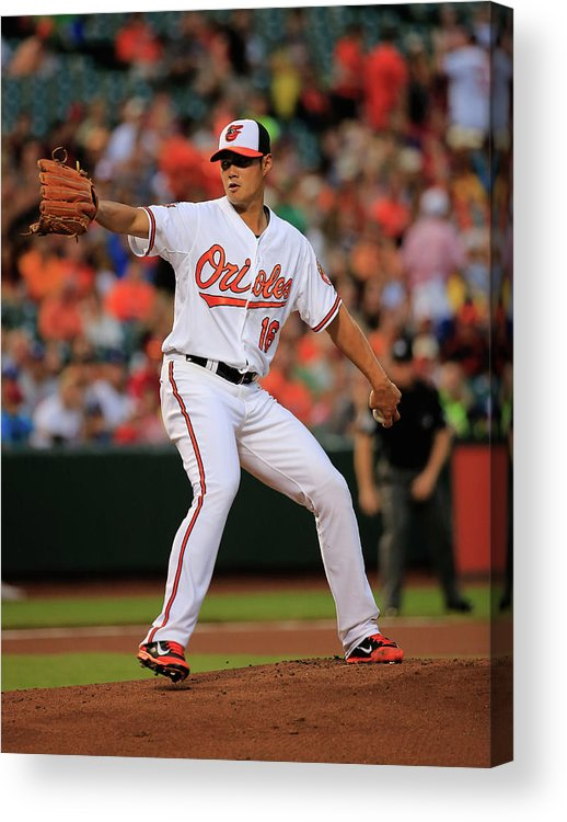 American League Baseball Acrylic Print featuring the photograph Wei-yin Chen by Rob Carr