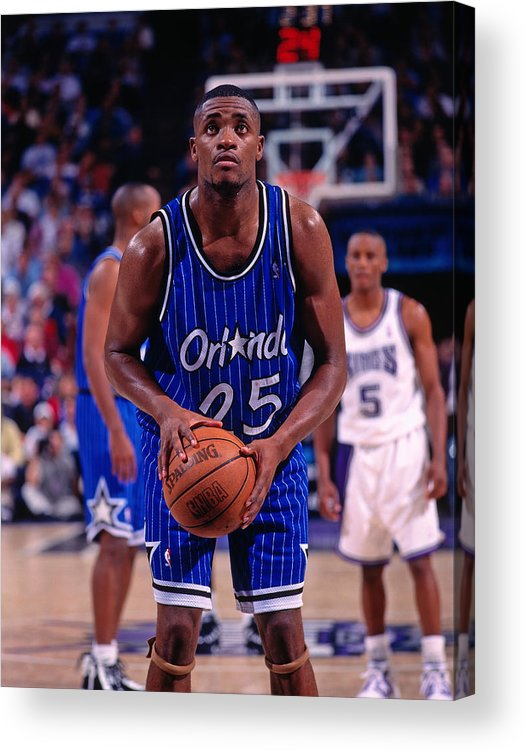 Nba Pro Basketball Acrylic Print featuring the photograph Nick Anderson by Rocky Widner