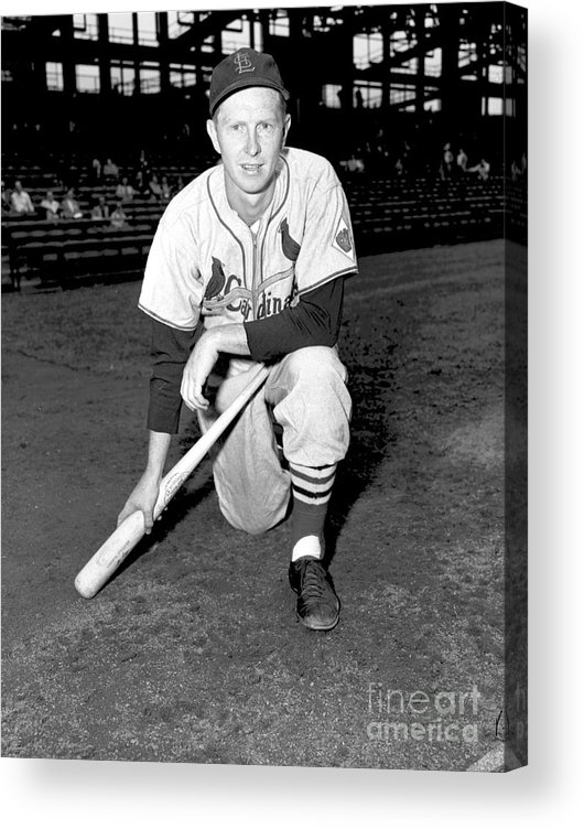 St. Louis Cardinals Acrylic Print featuring the photograph Red Schoendienst by Kidwiler Collection