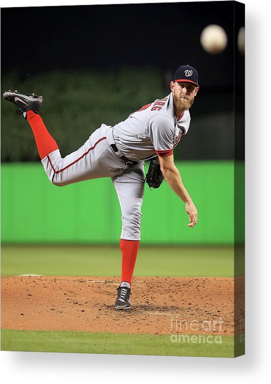 People Acrylic Print featuring the photograph Stephen Strasburg by Mike Ehrmann