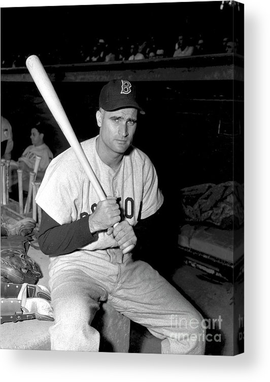Three Quarter Length Acrylic Print featuring the photograph Bobby Doerr by Kidwiler Collection