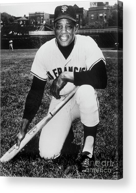 People Acrylic Print featuring the photograph Willie Mays by National Baseball Hall Of Fame Library