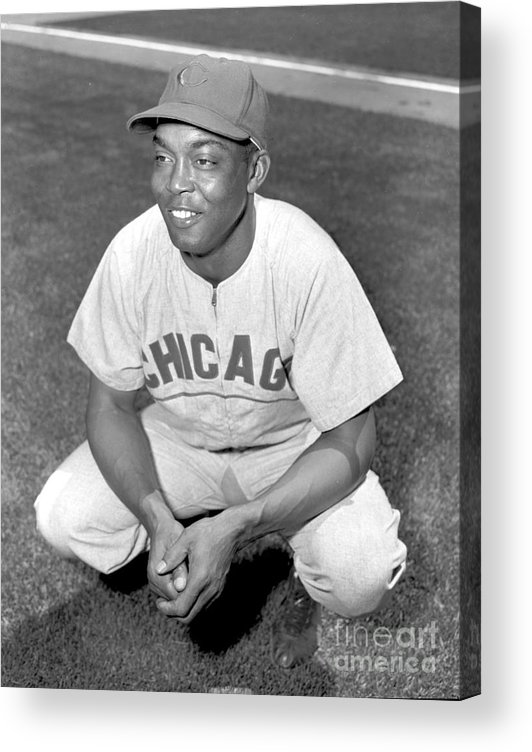 1950-1959 Acrylic Print featuring the photograph Monte Irvin by Kidwiler Collection